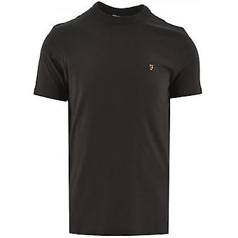 Farah Black Danny Korte Mouw T-shirt