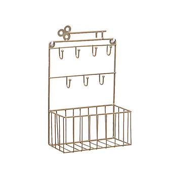 Wrought Iron Rack Wall Mounted Rack Home Wall Decoration Copper
