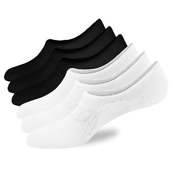 6 Pack ei Näytä sukat miesten matala leikata sukat liuku maton kahvat Mesh rento puuvilla ohut sukat kengän koko 6-11