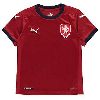 Puma Kinder Tschechische Republik Home Shirt 2020 Fußball Crew Hals Kurzarm dryCELL