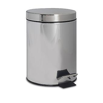 Bathroom Pedal Bin with Removable Inner Bucket, 3 Litres - Chrome Finish