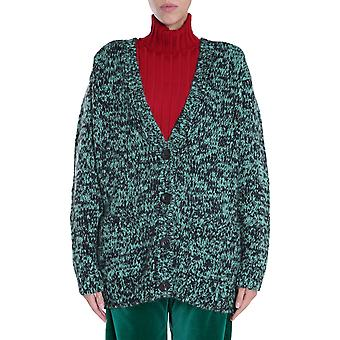 Dries Van Noten 112651704608 Vrouwen's Green Wool Cardigan