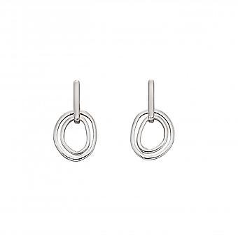 Elements Silver Sterling Silver Organic Double Hoop Earrings E5847