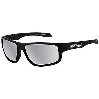 Dirty Dog Quantum Satin Polarised Sunglasses - Black/Silver