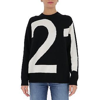 N°21 A01470849000 Femmes's Pull en laine noire