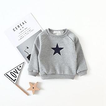 Casual Autumn Kids Baby Sweatshirts, Star Long Sleeved O-neck Pullover Tops