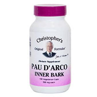 Dr. Christophers Formules Pau D Arco Extrait d'écorce intérieure, 100 Vegicaps