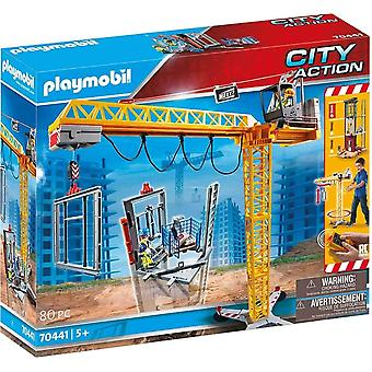 Playmobil 70441 city action construction crane playset 80 pcs