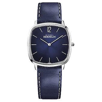 Michel Herbelin City | Heren's Blauwe Leren Band | Blue Dial 16905/15BL Horloge
