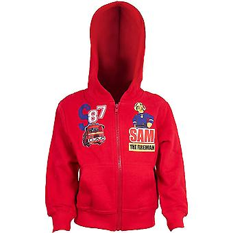 Fireman sam boys hoodie sweatjacket zip sam831swj