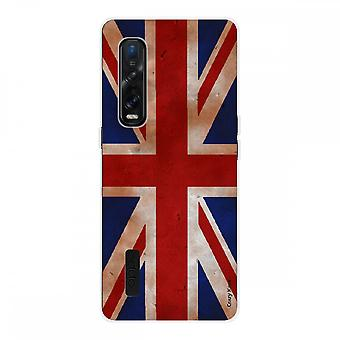 Hull For Oppo Find X2 Pro In Silicone Soft 1 Mm, Uk Vintage Flag