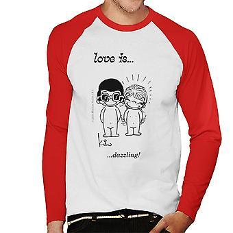 Rakkaus on häikäisevä Men's Baseball Pitkähihainen T-paita