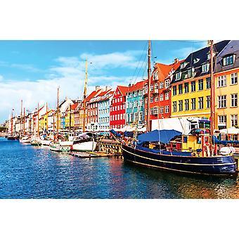 Wallpaper Mural Nyhavn Pier (400x260 cm)