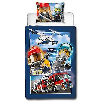 Lego City auf der Flucht einzelne Bettbezug und Kissenbezug Set