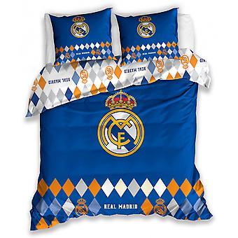 Bettbezug 200 x 220 cm Baumwolle blau/orange