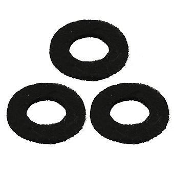 3Pcs Trumpet Valve Felt Washers Cushion Pads for Cornet 18x9mm Black