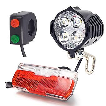 Electric Bike Front And  Rear Light Set With Built-in Speaker