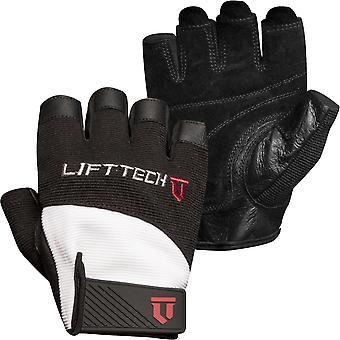 Лифт Технология Фитнес Элитные перчатки для поднятия веса - белый / черный