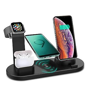 Apple Watch kulaklıklar için 3'i 1'i 1'de 3 kablosuz şarj cihazı dikey 4'i 1'de 1 kablosuz şarj cihazı