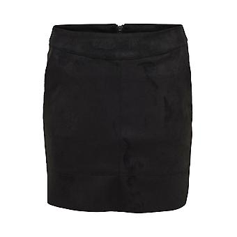 Women ONLY Suede Skirt Julie Faux Suede Leather Bonded Pencil Skirt Without Slit