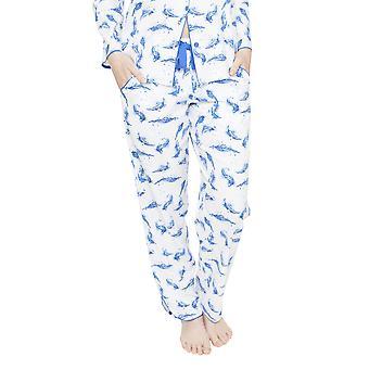 Cyberjammies 4055 vrouw Amelia White Feather Print pyjama's Pant