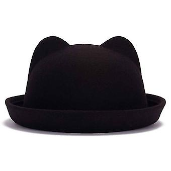 Parent-child Bowler Wool Felt Fedora Hats