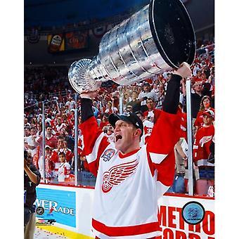 Brett Hull match 5 de l'impression de Photo de finales de la coupe Stanley de la LNH 2002