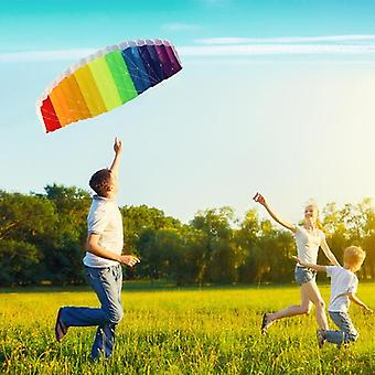1.5m Parafoil Kites Flying Rainbow