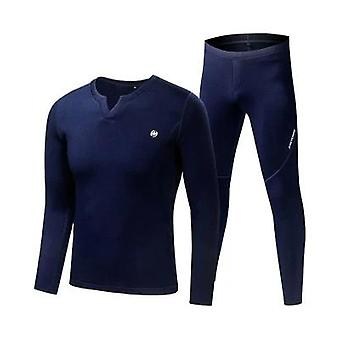 Fleece Long Johns Sports Thermal Underwear Sets Automne Hiver