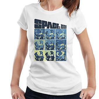 Space 1999 Helena Russell och John Koenig In Space Suits Women's T-Shirt
