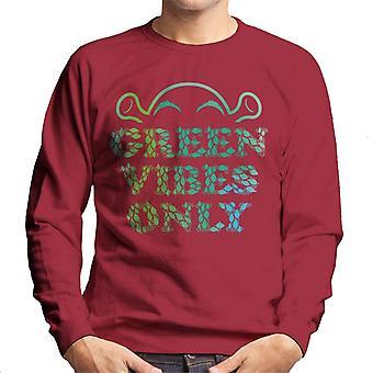 Shrek Green Vibes Only Men's Sweatshirt