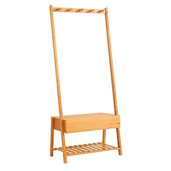 Rack de guarda-roupa de bambu resistente