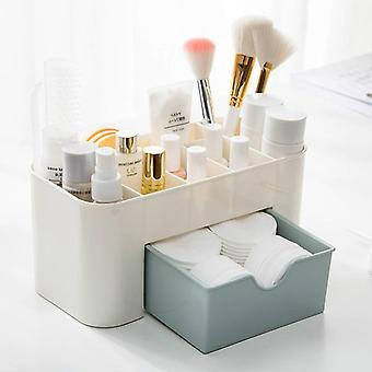 Plastic Makeup Organizer Makeup Brush Storage Box With Drawer Cotton Swab Stick