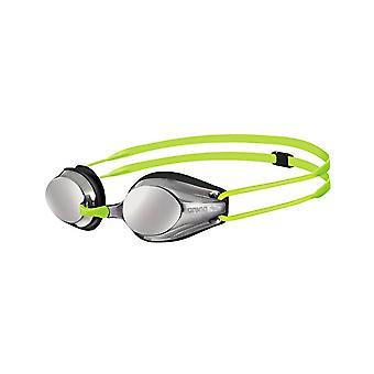 Arena spor Junior speil svømme Goggle-speilet linse-svart/Fluo gul