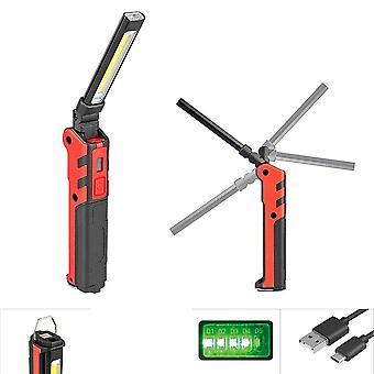 Cob+usb Folding Rechargeable Magnet, Flashlight, Headlight, Portable