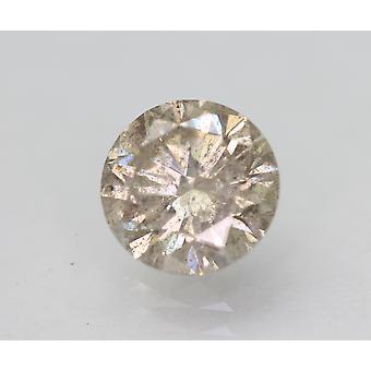 Sertifikantti 1,51 karat vaaleanruskea SI2 pyöreä loistava luonnollinen löysä timantti 7,36mm 3VG