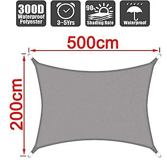 Waterproof Gray Square Rectangle Shade, Sail Garden Terrace Canopy, Swimming
