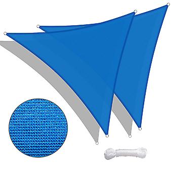 Yescom 2 Pack 11 Ft 97% UV Block Triangle Sun Shade Sail Canopy Outdoor Patio Awning
