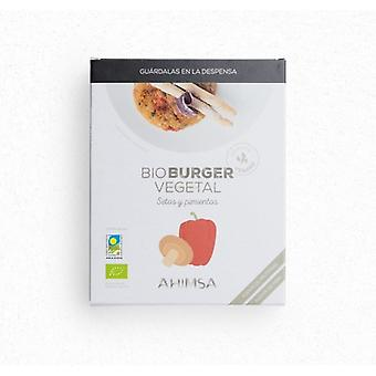 Ahimsa Vegetable Burger Mushrooms Organic Peppers 160 gr
