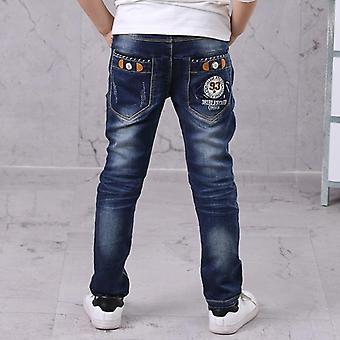 أطفال, بنطلون سليم مستقيم, جينز جينز, سروال طويل