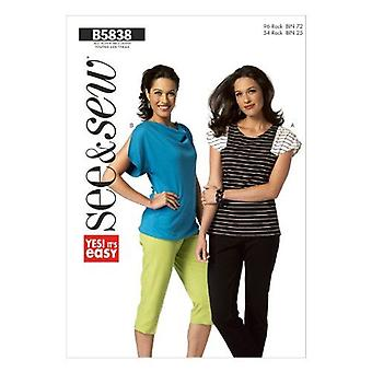 Katso & Ompele Butterick Ompelukuviot 5838 Misses Loose Fitting Top Size XS-XXL