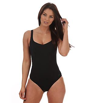 Costume da bagno Speedo Sculpture ContourLustre da donna in nero