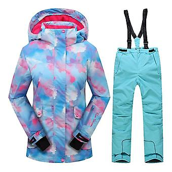 Talvinen tuulenpitävä hiihtotakki ja housujen ulkoiluvaatesarja