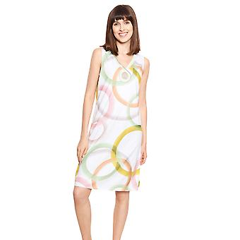 Féraud Couture 3211034-16371 Women's White Multicoloured Cotton Nightdress