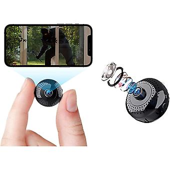 Mini Spy Camera 4K 1080P HD WiFi Micro Hidden Wireless Video Camera with APP Night Vision Motion Detection Alerts Indoor / Outdoor Audio And Video Recording (Black)