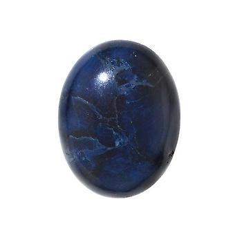 Sininen sodalite jalokivi soikea litteä-selkä cabochon 25x18mm (1 kpl)