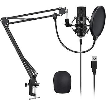 FengChun YOTTO Professioneller USB Kondensator Mikrofon Kit 192kHZ / 24bit PC Laptop Mikrofon mit