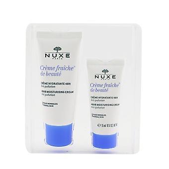 Nuxe Creme Fraiche De Beaute 48HR Fugtgivende Cream Gift Set - For Normal Hud 30ml +15ml