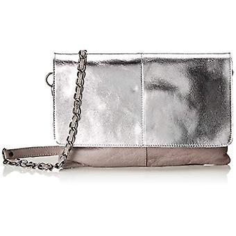 PIECES Pckarell Leather Cross Body - Women's Crossbody Bags, Grey Violet, 1x16x25 cm (B x H T)