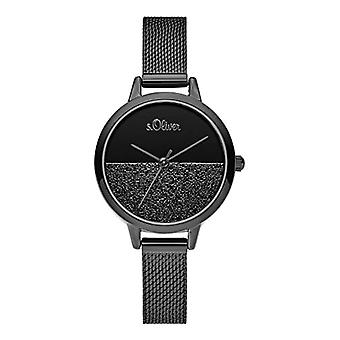 s.Oliver Analog Watch Quartz Woman with Stainless Steel Strap SO-3744-MQ